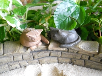 Set of Two Cats for Fairy Garden