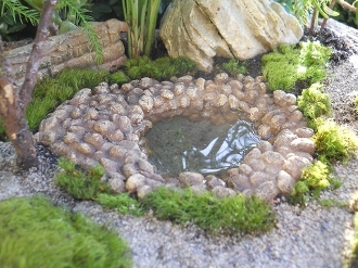 Stone Pond for Miniature Fairy Garden