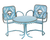 Blue Bird Bistro Set