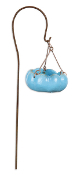 Blue Birdbath/Feeder on Hook