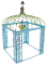 Blue Vine Gazebo with Chandelier for Fairy Garden