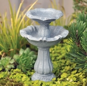 Double Birdbath for Fairy Gardens
