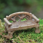 "Rustic Bench for Miniature Gardens (2"" Long-smaller scale)"