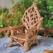 Woodland Throne for Fairy Garden