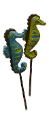 Set of Seahorse Picks For Your Miniature Fairy Garden