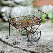 Mini Tea or Garden Cart For Miniature Fairy Gardens