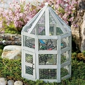 Bird Aviary With Songbird Tree Stake For Fairy Gardens