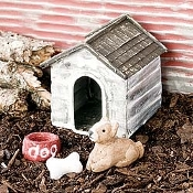 Dog House With Dog For Miniature Fairy Gardens