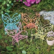 Butterfly Chairs Set of 4 For Miniature Fairy Gardens
