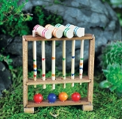 Colorful Croquet Set For Miniature Fairy Gardens
