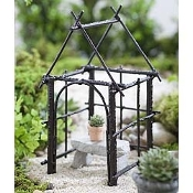 Wildewood Iron Gazebo For Miniature Fairy Gardens