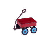 Red Wagon For Miniature Fairy Gardens