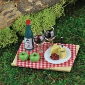 Wine and Cheese Miniature Food For Fairy Garden