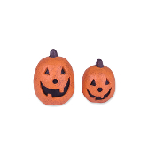 Set/2 Jack-O-Lanterns For Miniature Fairy Gardens