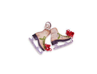 Pair of Ice Skates for Miniature Fairy Garden