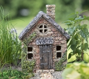 "5.5"" Mini Bucklin Cottage For Miniature Fairy Gardens"