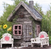 "6.5"" Fairy Shed For Miniature Fairy Gardens"