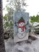 Hanging Snowman Banner For Miniature Fairy Gardens