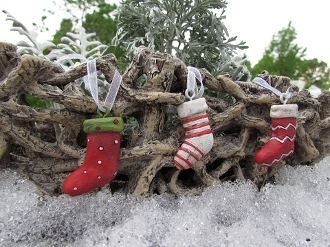 Set of Three Stockings for Fairy Garden