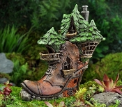 Ladies Boot Fairy House For Miniature Fairy Gardens