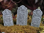 Set of 3 Head Stones w/pick for Miniature Fairy Gardens