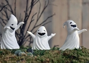 Set of Three Ghosts For Miniature Fairy Gardens