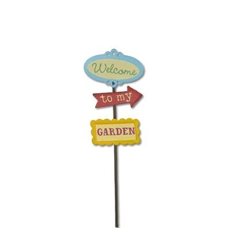Garden Sign by Gypsy Garden for Miniature Fairy Gardening