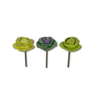 3 Cabbage Set by Gypsy Garden for Miniature Fairy Gardening