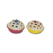 Pie Set of 2 by Gypsy Garden for Miniature Fairy Gardening