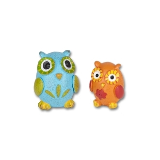 Mr & Mrs Who Owls by Gypsy Garden for Miniature Fairy Gardening
