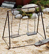 Double Swing for Miniature Fairy Gardens