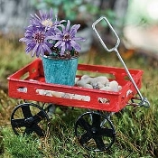 Jerry's Flyer Wagon for Miniature Fairy Gardens