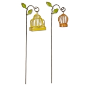 Set of 2/Birdcage on Hook for Miniature Fairy Gypsy Gardens