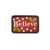 BELIEVE Holiday Door Mat for Miniature Fairy Gypsy Gardens