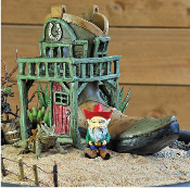 Cowboy Boot Fairy House for Miniature Fairy Gardens