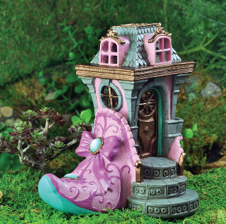 Pink Slipper Chateau for Miniature Fairy Gardens