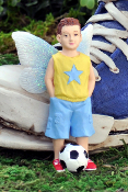 Christian the Soccer Boy Fairy for Miniature Fairy Gardens