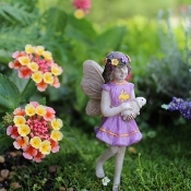 Willow The Fairy w/Bunny for Miniature Gardens