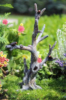 Fairy Bare Tree with Birds for Fairy Garden