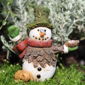 Mr Flurry the Snowman For Miniature Fairy Gardens