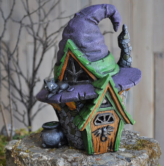 Witch Hat Fairy House for Miniature Fairy Gardens