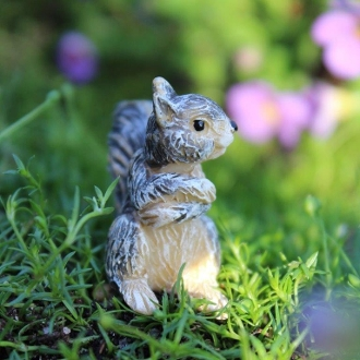 Hammy The Squirrel for Miniature Fairy Gardens