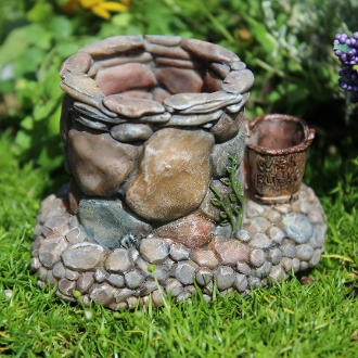 Stoney Bend Wishing Well for Miniature Fairy Gardens
