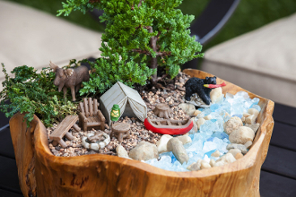 SALE! In The Woods Camping Fairy Garden Set