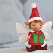 Ben the Boy Elf Fairy For Miniature Fairy Gardens