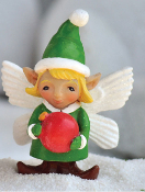 Stephanie The Elf Girl With Ornament For Miniature Fairy Gardens