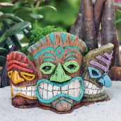 Tiki Mask Planter For Miniature Fairy Gardens