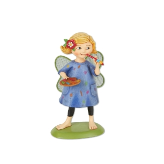 Maisy the Artist Fairy for Merriment Miniature Fairy Gardening