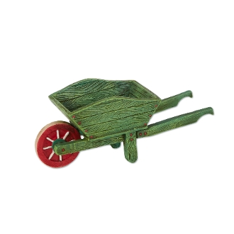 Green Wheelbarrow for Merriment Miniature Fairy Gardening