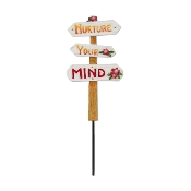 Nurture Your Mind Sign for Merriment Miniature Fairy Gardening